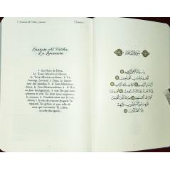 Le Coran - Traduit et annoté par Abdallah Penot - COUVERTURE DAIM CARTONNÉE - BORD DORÉE - COLORIE ROSE
