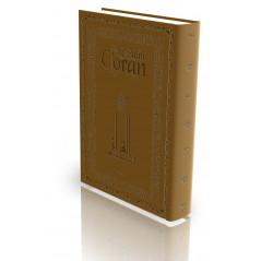 Le Coran - Traduit et annoté par Abdallah Penot - COUVERTURE DAIM CARTONNÉE - BORD DORÉE - COLORIE MARRON