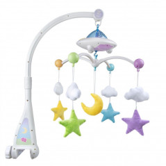 Lune et Etoiles, Mobile Coranique lumineux - Moon & Stars, Quran Cot Mobile with Light Projection