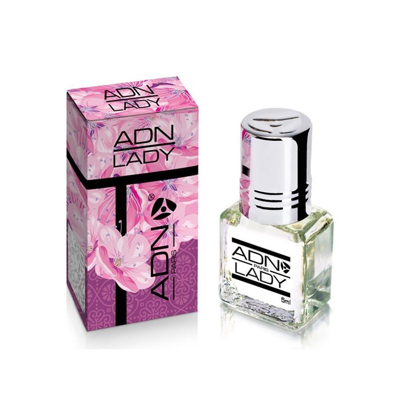 ADN PARIS Lady– Parfum concentré sans alcool pour Femme- Flacon roll-on de5 ml