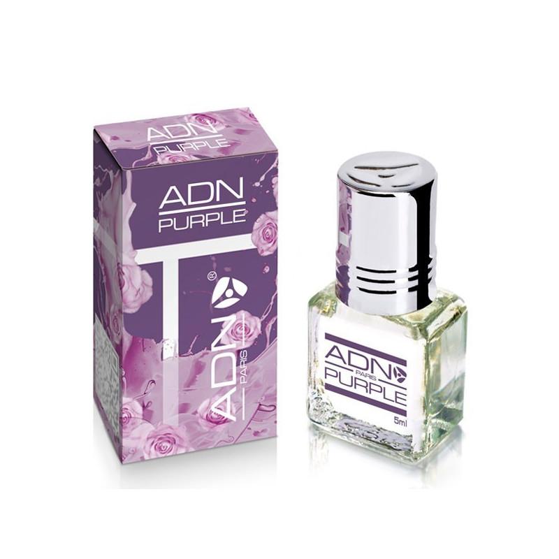 PURPLE - ADN PARIS: Parfum concentré sans alcool pour Femme- Flacon roll-on de5 ml