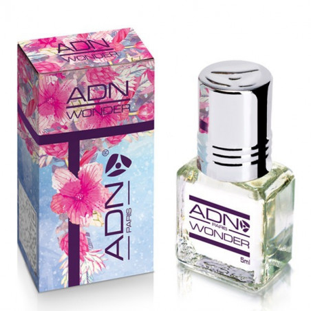 WONDER- ADN PARIS: Parfum concentré sans alcool pour Femme- Flacon roll-on de5 ml