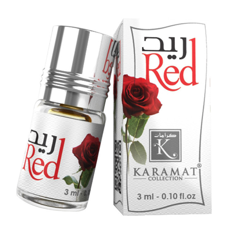 RED - KARAMAT: Parfum concentré sans alcool - Flacon roll-on de 3 ml (Mixte)