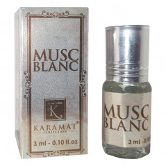 MUSC BLANC - KARAMAT: Parfum concentré sans alcool - Flacon roll-on de 3 ml (Mixte)