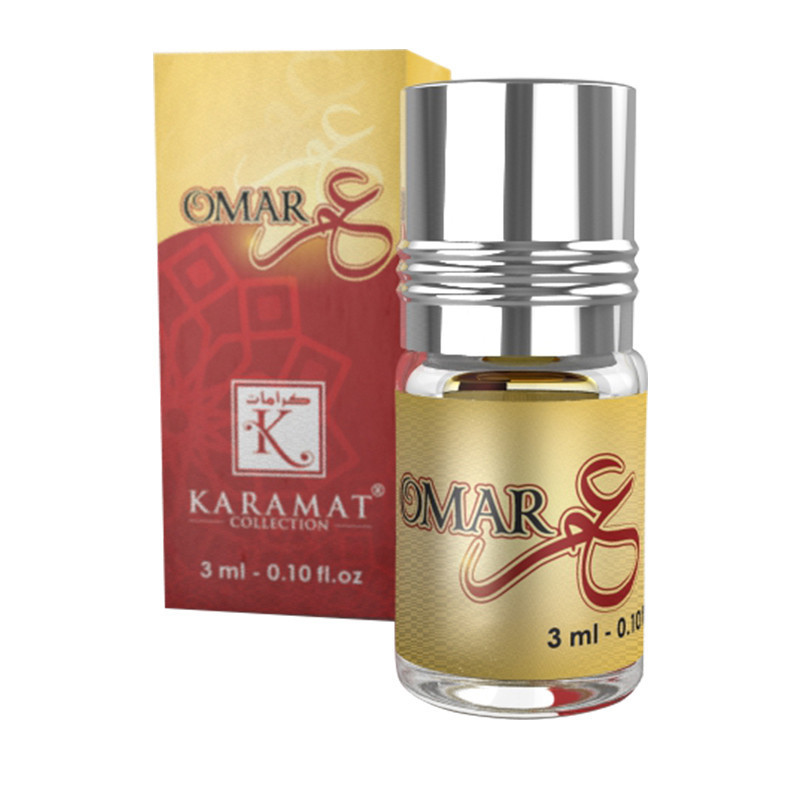 OMAR - KARAMAT: Parfum concentré sans alcool - Flacon roll-on de 3 ml
