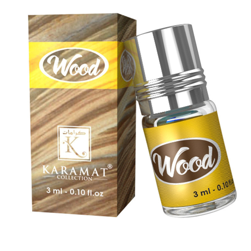 WOOD - KARAMAT: Parfum concentré sans alcool - Flacon roll-on de 3 ml (Mixte)