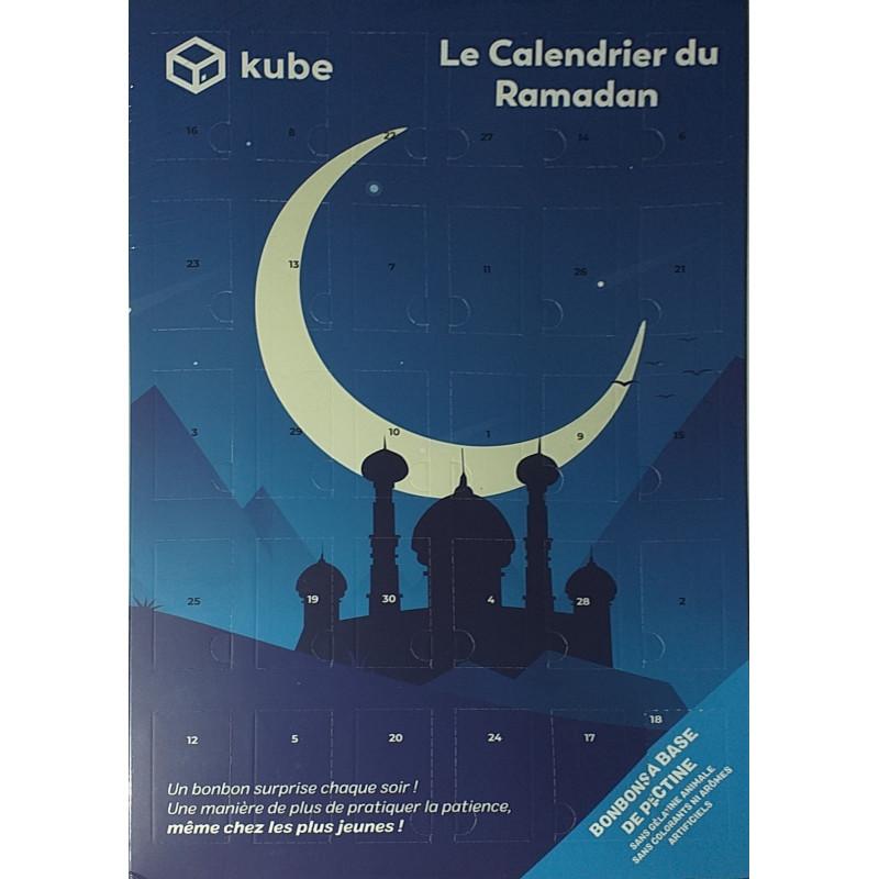 """Calendrier Ramadan pour enfants - Modèle Kube """"Nuit Étoilée"""""""