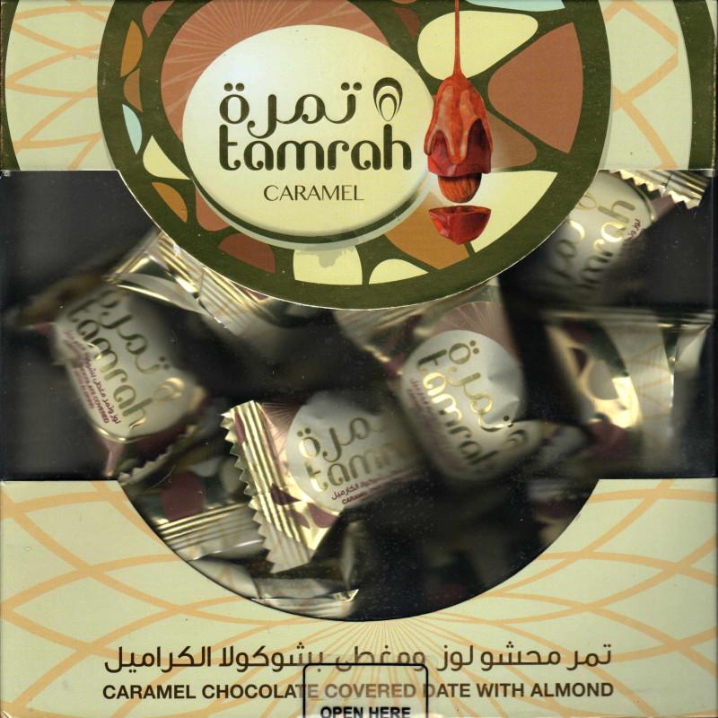 Tamrah - Dattes aux amandes enrobées de Chocolat au caramel (200 g)