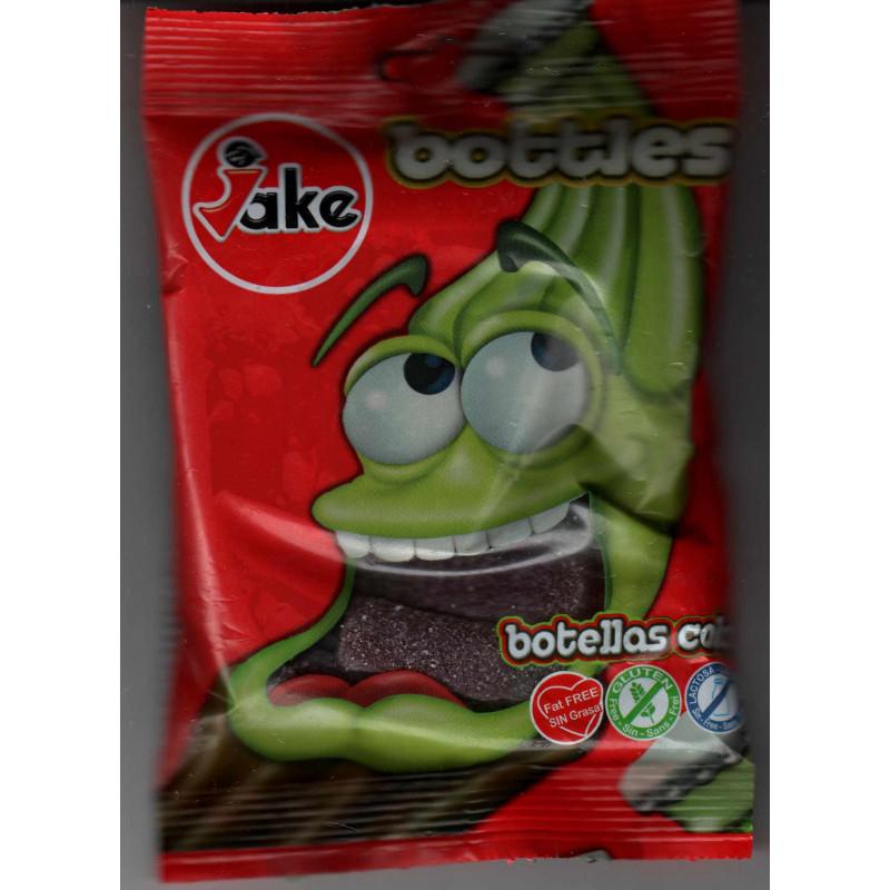 JAKE Bottles: Bonbons Halal (Bouteilles goût cola , Sans Gluten, Sans lactose, Sans matières grasses)- Sachet de 100 g
