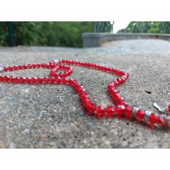 Chapelet musulman en Cristal de Verre pour Tasbih 99 grains (Col. Rouge Translucide)