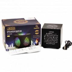 Speaker Qur'an SQ-805 (8 GB): Lecteur Veilleuse coranique table avec Télécommande Cube noir