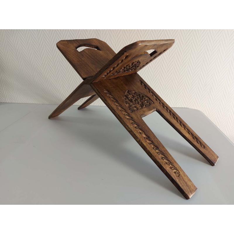 Pupitre en Bois - Porte Livre Pliable, Lutrin de lecture, Travail ARTISANAL à la main (60x23 cm)