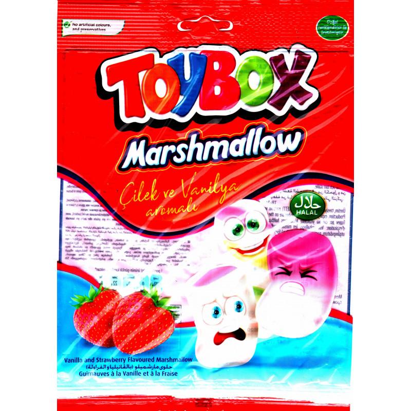 ToyBox Marshmallow  - Guimauve Halal Vanille et Fraise - Sachet de 70 g