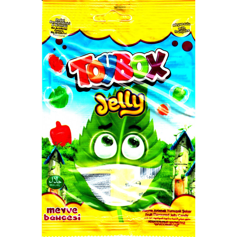 ToyBox Jelly Meyve Bahçesi (Jardin de fruits)- Bonbons Halal en gelée aux saveurs de fruits - Sachet de 80 g