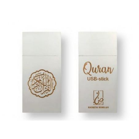Clé USB 16 Go avec le Saint Coran MP3 complet récité entièrement par plusieurs récitateurs - Couleur Blanc