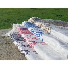 Tapis de Prière Fin (Coton/Polyester) - motif arabesque floral - couleur VERT