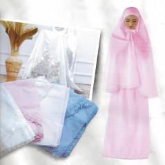 Ensemble Prière pour Femme - 100% coton - Couleur Bleu Claire