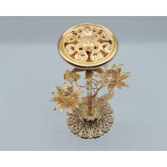 Encensoir / brûleur d'encens métallique doré - GRANDE COUPE - REF590
