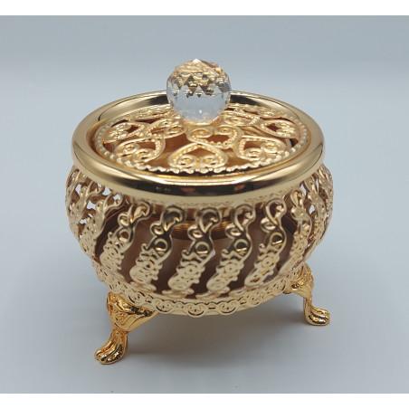 Encensoir / brûleur d'encens métallique doré  -COUPE SUCRIER- REF598
