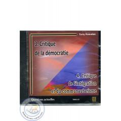 Critique de la démocratie/Critique de l'intégration et du communautarisme sur Librairie Sana