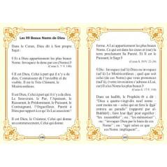 Les 99 Beaux Noms d'Allah sur Librairie Sana