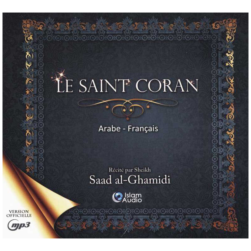 CD MP3 Le saint coran Arabe-Français (3 CD) Récité par Al-Ghamidi