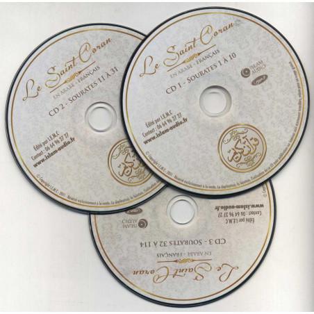 Cd-Mp3: Le Saint Coran Arabe-Français, Coffret 3 CD, Lecture Al-Afasy