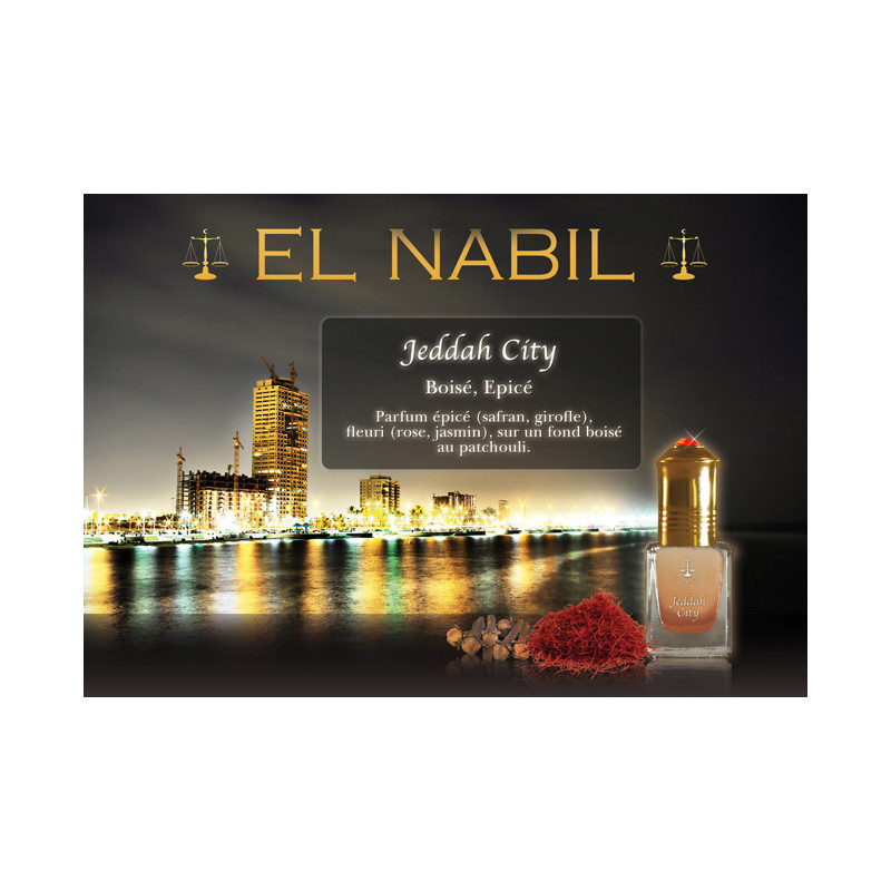 Parfum El Nabil - Jeddah City - 5 ml