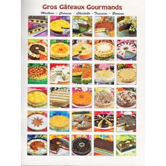 Gros gâteaux gourmands (moelleux, crémeux, charlotte, tiramisu, brownie)
