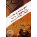 Faut-il déclarer mécréants ceux qui ne jugent pas selon ce que Dieu a révélé? sur Librairie Sana