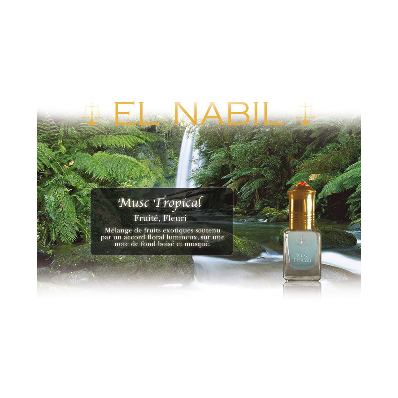 Parfum El Nabil - Musc Tropical  - 5 ml