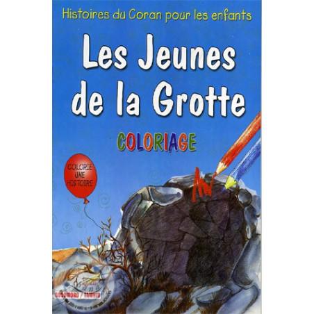Les jeunes de la Grotte (coloriage)