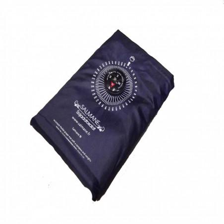 Tapis de prière de poche et de voyage avec boussole (col.bleu)
