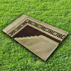 Tapis prière velours luxe-marron argile