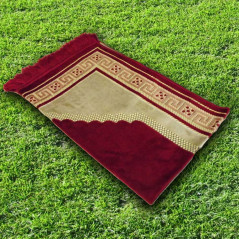 Tapis prière velours luxe-rouge carmin