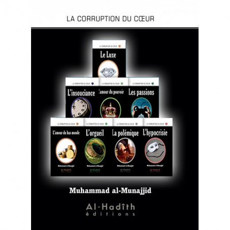 Pack 8 livres: Série la corruption du cœur- De Muhammad Salih al-Munajjid
