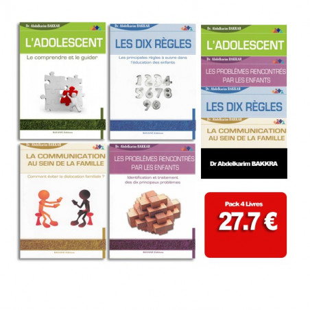 Pack 4 livres de Abdelkarim Bakkar sur la famille et l'éducation des enfants