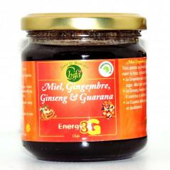 Miel au Gingembre,Ginseng et Garana