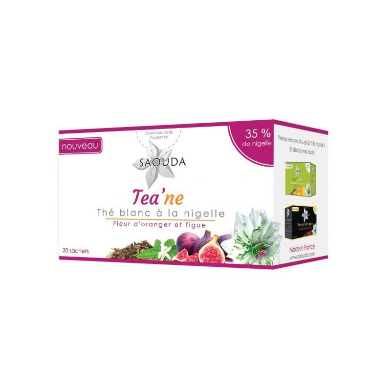 Thé blanc à la nigelle, Fleur d'oranger et figue- Saouda - 20 sachets