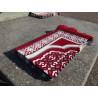 Tapis de Prière en Velours - Motif géométrique - Fond Rouge écarlate
