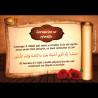 Autocollant artistique avec invocations (stickers Dhikr) - Lorsqu'on se réveille (FR- AR-Phonétique)