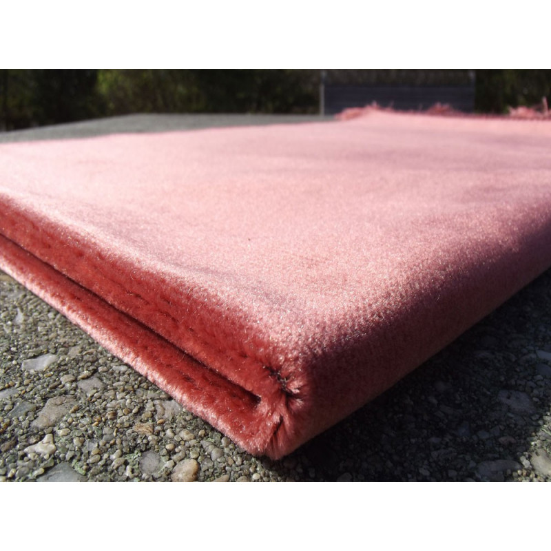 Tapis de Prière Velours Luxe couleur uni - ORANGE SAUMON