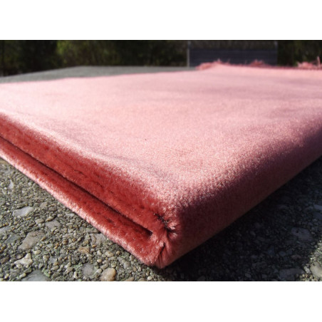 Tapis de Prière Velours Luxe couleur unie - ORANGE SAUMON