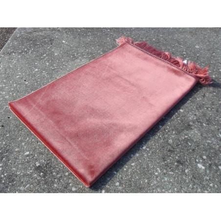 Tapis de Prière Velours Luxe couleur unie - ORANGE SAUMON