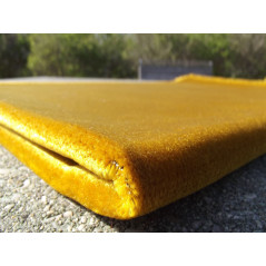 Tapis de Prière Velours Luxe couleur unie - JAUNE DORÉE