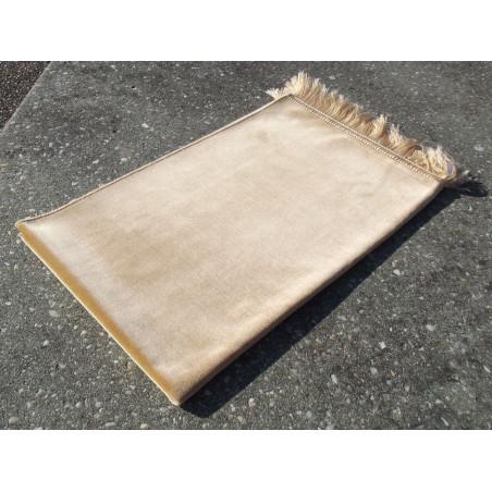 Tapis de Prière Velours Luxe couleur unie - JAUNE SABLE