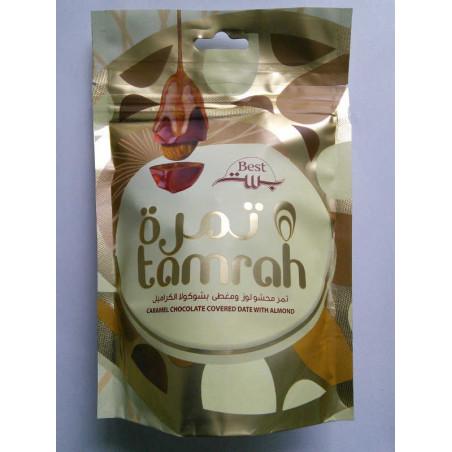 Best tamrah - Amande enrobée de Dattes aux Chocolat Caramel, Tamrah 100g (Chocolat Caramel)