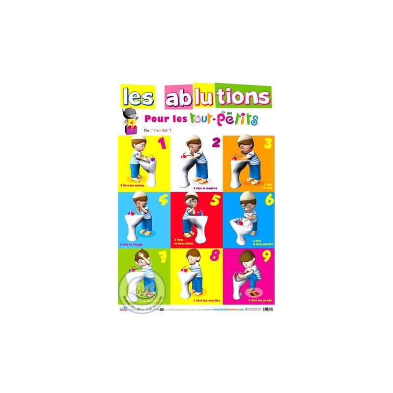POSTER Les Ablutions pour les tout-petits sur Librairie Sana