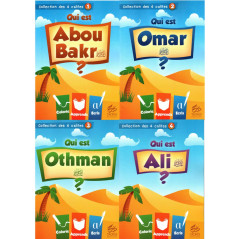 Pack (4 livres) de la collection des 4 califes: Abou Bakr, Omar, Othman, Ali