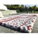 Tapis de Prière en Velours - Contour géométrique - Fond Sable - COULEUR TERRE